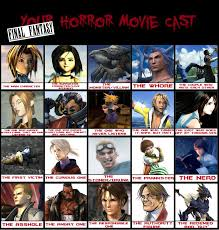 Final Fantasy Memes - final fantasy horror movie cast meme by shizonek on deviantart