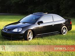 honda civic ex 2001 rtint honda civic 2001 2005 coupe window tint kit diy precut