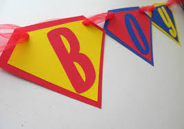Superman Decoration Ideas by Superman Its A Boy Banner In Red Blue And Yellow For Baby