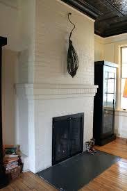 great painted white brick fireplace suzannawinter com