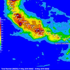 Mexico Precipitation Map by Cloud Towers Nasa
