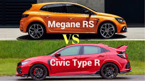 renault philippines 2018 renault megane rs vs honda civic type r youtube