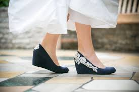 wedding shoes navy blue wedding shoesnavy blue wedgesbridal heelnavy wedgeblue