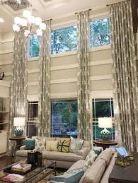 Floor To Ceiling Curtains Decorating Two Story Great Room Window Treatments Curtains For Two Story