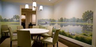 dining room murals home design