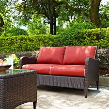 crosley kiawah outdoor wicker loveseat walmart com