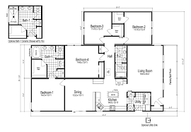 4 Bedroom 2 Bath House Plans Wilmington Ii 4 Bedroom Manufactured Home Floor Plan Or Modular