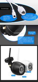 DIGOO W01f Warna Night Vision Versi Cloud Storage Luar 720P HD 3 6mm