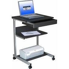 Desk With Printer Storage Ameriwood Home London Hobby Desk Espresso Walmart Com