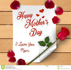 Mother S Day Flower Happy Mothers Day With Flowers Roses And Petals Over Paper On