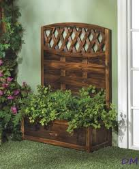 2 decorative trellis back design rectangular fir wood garden patio