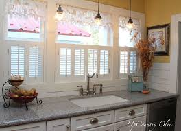 Kitchen Window Treatments Ideas Pictures Kitchen Window Curtain Delightful Frenchstyle Nosew Curtain Using