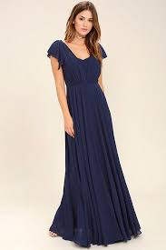 lulus falling for you navy blue maxi dress lined self 100