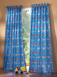 schlaufenschal kinderzimmer kinderzimmer gardine schlaufenschal set car motiv blau schöner