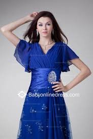 gorgeous crystal sashes a line v neck short sleeves tea length