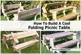 Picnic Table Plans Free Hexagon by Folding Picnic Table Buildeazy Com Jpg