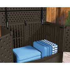 furniture wicker suncast deck box ideas in brown for outdoor