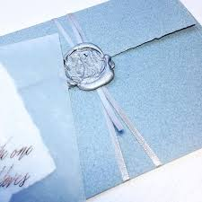 wedding invitations montreal blue and silver wedding invitations with gorgeous wax seal faire