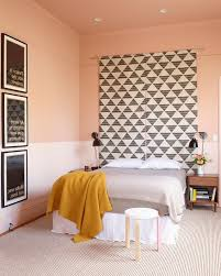bedroom earth tones bedroom eclectic with pink walls square