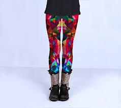 red patterned leggings patterned leggings yoga leggings geometric design leggings