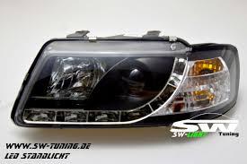 audi headlights sw light headlights audi a3 8l 09 96 00 led positionlight black