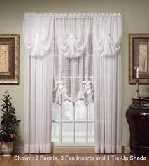 How To Hang A Drapery Scarf by Today U0027s Curtain Silhouette Ascot Valance Or Swag