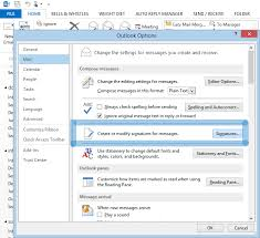 tutorial outlook signature image with hyperlink