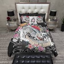 Tattoo Bedding White Dragon Traditional Japanese Tattoo Style Bedding Ink And Rags