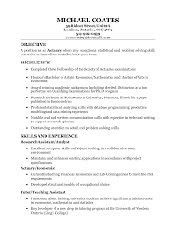 Actuary Resume Example by Actuary Resume Resume Badak