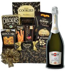 martini gift basket gift basket experts martini and asti spumante gift basket