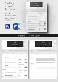 one page resume templates one page resume template mac resume template great for more