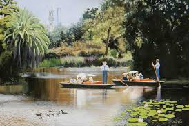 Botanical Gardens Melbourne Royal Botanic Gardens Melbourne By Lance Ross Paintings For Sale