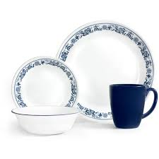 corelle livingware 16 piece dinnerware set old town blue corelle livingware 16 piece dinnerware set old town blue