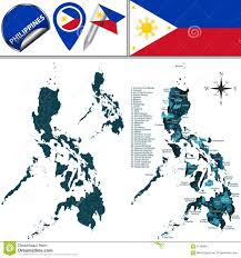 Map Of Phillipines Map Of Philippines With Named Regions Stock Vector Illustration
