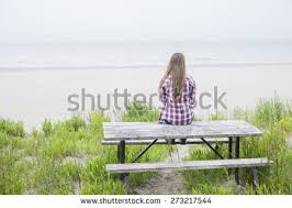 rear view young long blond stock photo 273217544 shutterstock