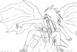 coloring page sasuke curse mark transformation sketch coloring page