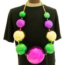 jumbo mardi gras 150mm balls necklace mardigrasoutlet