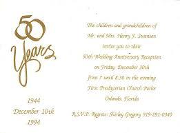 golden wedding anniversary invitation wording gallery invitation
