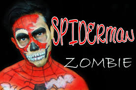 spiderman zombie maquillaje para hombres halloween youtube