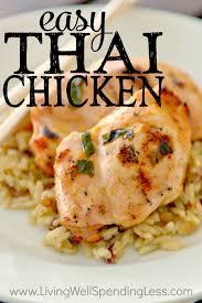 Easy Main Dish - easy thai chicken recipe freezer friendly chicken recipe