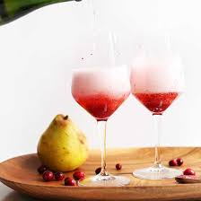 pear cranberry chagne cocktail minimalist baker recipes