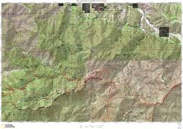 Sierra High Route Map by Pct Maps U2013 Section D Onthetrail Org On The Trail Guide To The