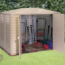 backyard storage shed kits weather and rust resistant double glass