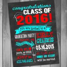graduation invitation chalkboard graduation high school