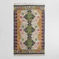 Boho Area Rugs 5 U0027x8 U0027 Boho Woven Cotton Kilim Alina Area Rug World Market