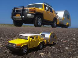 yellow toyota truck fj u0026 t b camper x2 dangler tags travel tourism yellow truck