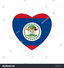 Belize Flag Vector Image Belize Flag Heart On Stock Vector 426244267