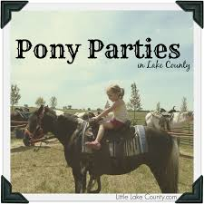 Pony parties in lake county little lake county