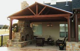 pool house with beautiful outdoor fireplace designer steven