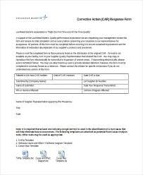 9 sample corrective action forms free sample example format